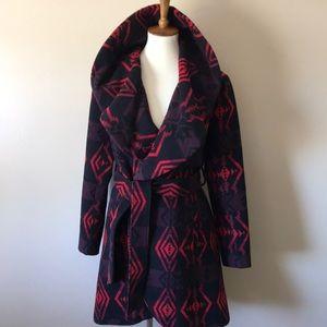 BB Dakota Blanket Tribal Boho wrap jacket S
